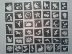 50 girls tattoos stencils for glitter tattoos /  airbrush / henna / cakes